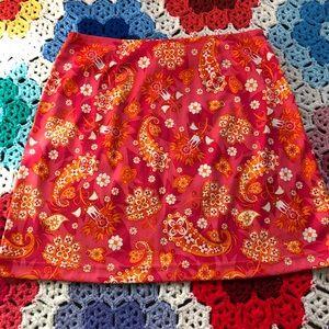 VTG 90s does 60s Paisley Mini Skirt